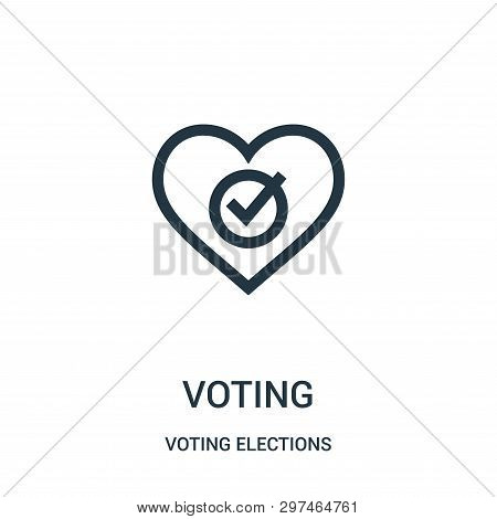 Voting Icon Isolated On White Background From Voting Elections Collection. Voting Icon Trendy And Mo