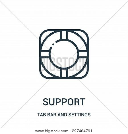 Support Icon Isolated On White Background From Tab Bar And Settings Collection. Support Icon Trendy