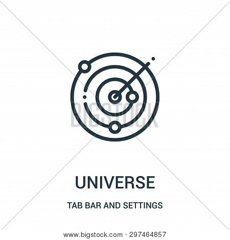 Universe Icon Isolated On White Background From Tab Bar And Settings Collection. Universe Icon Trend