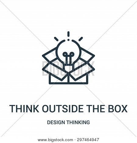Think Outside The Box Icon Isolated On White Background From Design Thinking Collection. Think Outsi