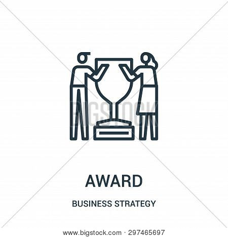 Award Icon Isolated On White Background From Business Strategy Collection. Award Icon Trendy And Mod