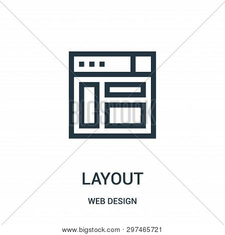 Layout Icon Isolated On White Background From Web Design Collection. Layout Icon Trendy And Modern L