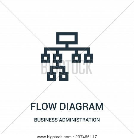 Flow Diagram Icon Isolated On White Background From Business Administration Collection. Flow Diagram