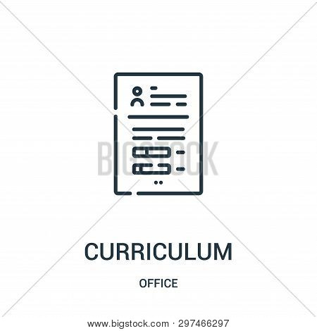 Curriculum Icon Isolated On White Background From Office Collection. Curriculum Icon Trendy And Mode