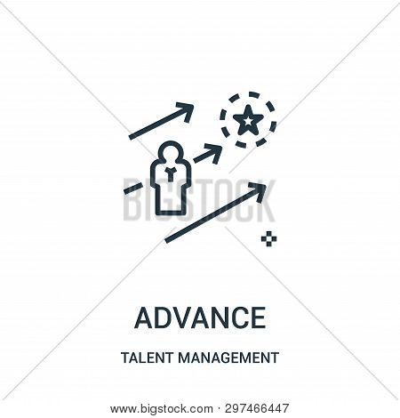 Advance Icon Isolated On White Background From Talent Management Collection. Advance Icon Trendy And