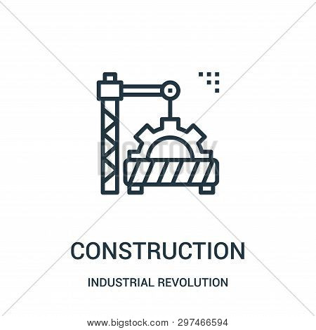Construction Icon Isolated On White Background From Industrial Revolution Collection. Construction I