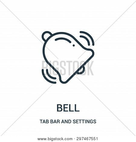 Bell Icon Isolated On White Background From Tab Bar And Settings Collection. Bell Icon Trendy And Mo