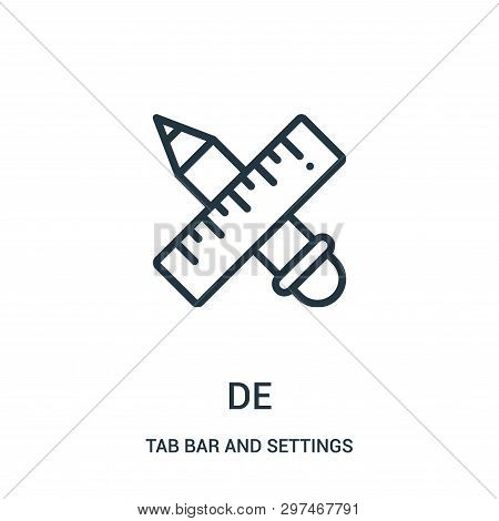 Design Icon Isolated On White Background From Tab Bar And Settings Collection. Design Icon Trendy An