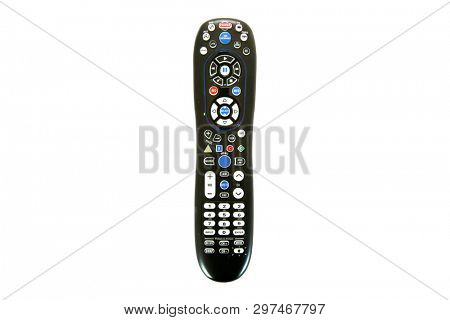Remote Control. Generic Remote Control.  Universal remote control. isolated on white. room for text.