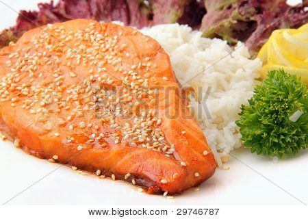 Roasted Slice Of Salmon