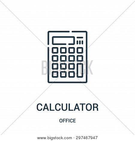 Calculator Icon Isolated On White Background From Office Collection. Calculator Icon Trendy And Mode