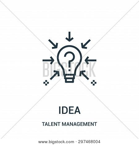 Idea Icon Isolated On White Background From Talent Management Collection. Idea Icon Trendy And Moder