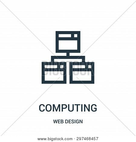Computing Icon Isolated On White Background From Web Design Collection. Computing Icon Trendy And Mo