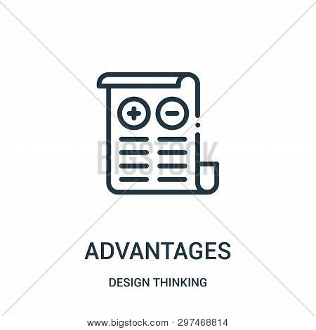 Advantages Icon Isolated On White Background From Design Thinking Collection. Advantages Icon Trendy