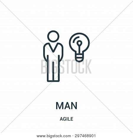 Man Icon Isolated On White Background From Agile Collection. Man Icon Trendy And Modern Man Symbol F