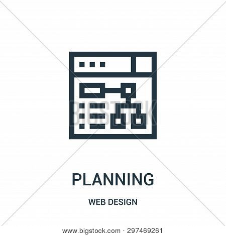 Planning Icon Isolated On White Background From Web Design Collection. Planning Icon Trendy And Mode