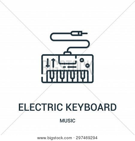 Electric Keyboard Icon Isolated On White Background From Music Collection. Electric Keyboard Icon Tr