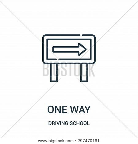 One Way Icon Isolated On White Background From Driving School Collection. One Way Icon Trendy And Mo