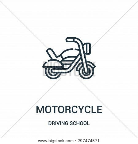 Motorcycle Icon Isolated On White Background From Driving School Collection. Motorcycle Icon Trendy