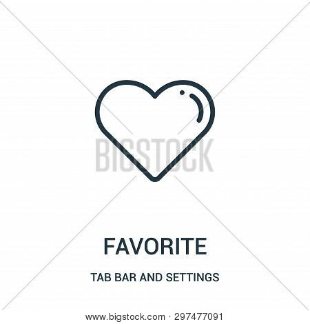 Favorite Icon Isolated On White Background From Tab Bar And Settings Collection. Favorite Icon Trend