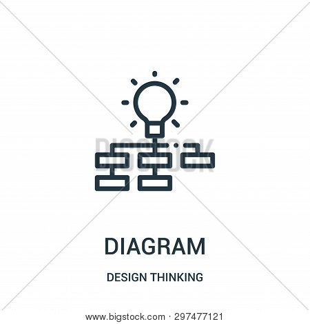Diagram Icon Isolated On White Background From Design Thinking Collection. Diagram Icon Trendy And M