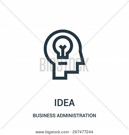Idea Icon Isolated On White Background From Business Administration Collection. Idea Icon Trendy And