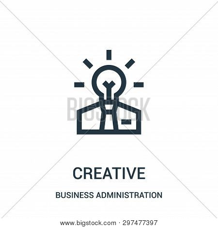 Creative Icon Isolated On White Background From Business Administration Collection. Creative Icon Tr