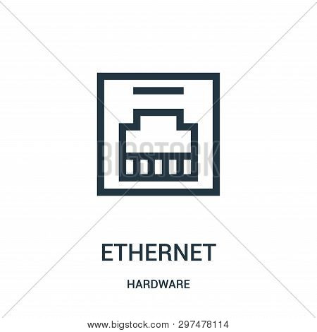Ethernet Icon Isolated On White Background From Hardware Collection. Ethernet Icon Trendy And Modern