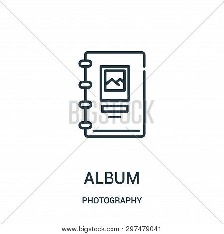 Album Icon Isolated On White Background From Photography Collection. Album Icon Trendy And Modern Al