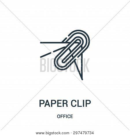Paper Clip Icon Isolated On White Background From Office Collection. Paper Clip Icon Trendy And Mode