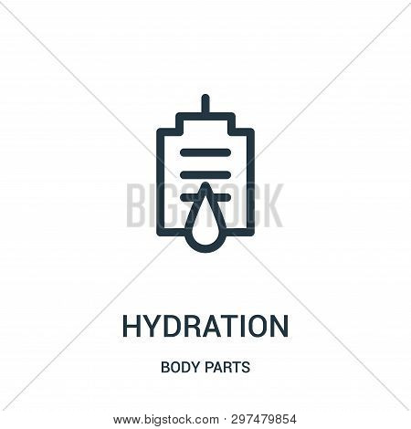 Hydration Icon Isolated On White Background From Body Parts Collection. Hydration Icon Trendy And Mo
