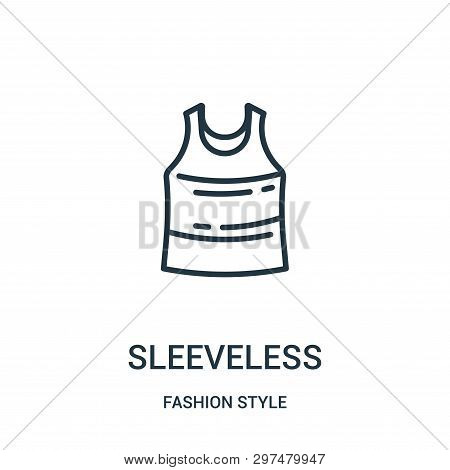 Sleeveless Icon Isolated On White Background From Fashion Style Collection. Sleeveless Icon Trendy A