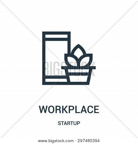 Workplace Icon Isolated On White Background From Startup Collection. Workplace Icon Trendy And Moder