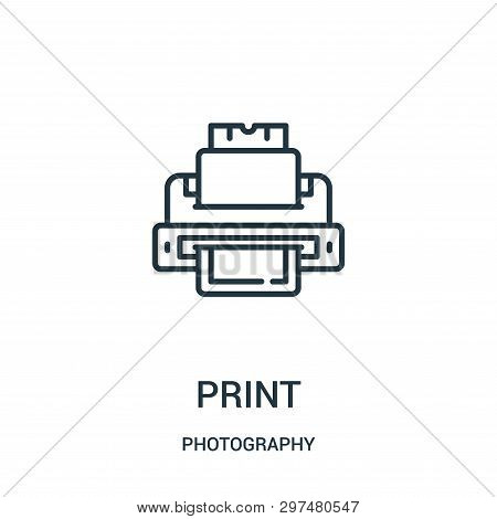 Print Icon Isolated On White Background From Photography Collection. Print Icon Trendy And Modern Pr