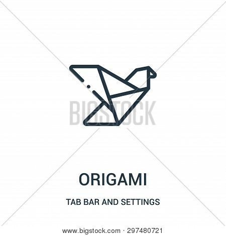 Origami Icon Isolated On White Background From Tab Bar And Settings Collection. Origami Icon Trendy