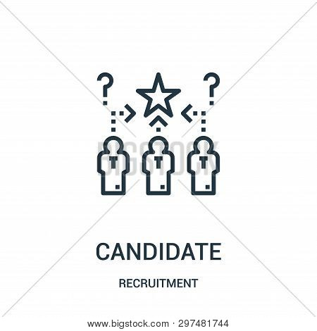 Candidate Icon Isolated On White Background From Recruitment Collection. Candidate Icon Trendy And M