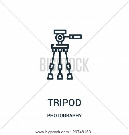 Tripod Icon Isolated On White Background From Photography Collection. Tripod Icon Trendy And Modern