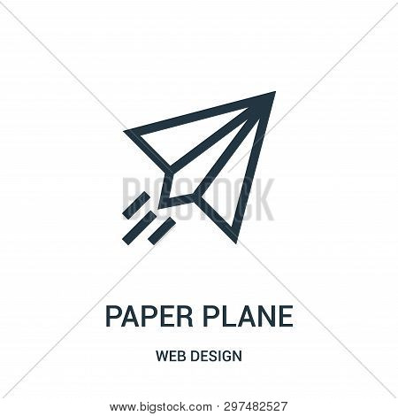 Paper Plane Icon Isolated On White Background From Web Design Collection. Paper Plane Icon Trendy An