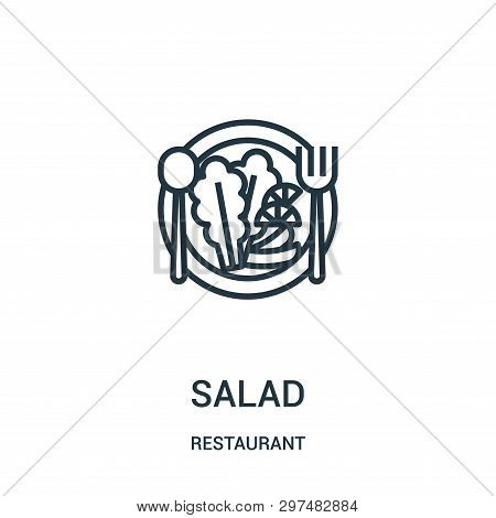 Salad Icon Isolated On White Background From Restaurant Collection. Salad Icon Trendy And Modern Sal