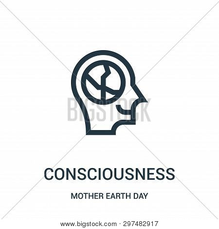 Consciousness Icon Isolated On White Background From Mother Earth Day Collection. Consciousness Icon