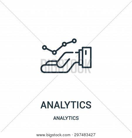 Analytics Icon Isolated On White Background From Analytics Collection. Analytics Icon Trendy And Mod