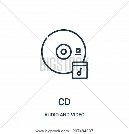 Cd Icon Isolated On White Background From Audio And Video Collection. Cd Icon Trendy And Modern Cd S