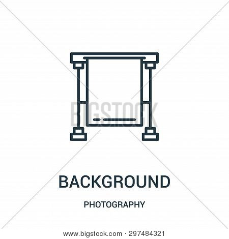 Background Icon Isolated On White Background From Photography Collection. Background Icon Trendy And