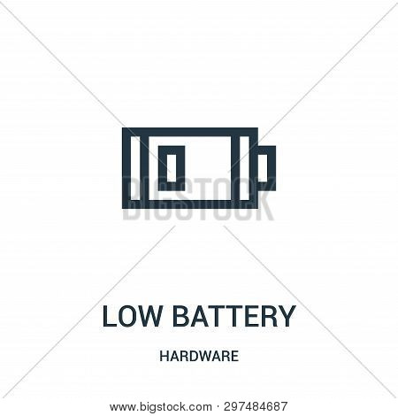 Low Battery Icon Isolated On White Background From Hardware Collection. Low Battery Icon Trendy And