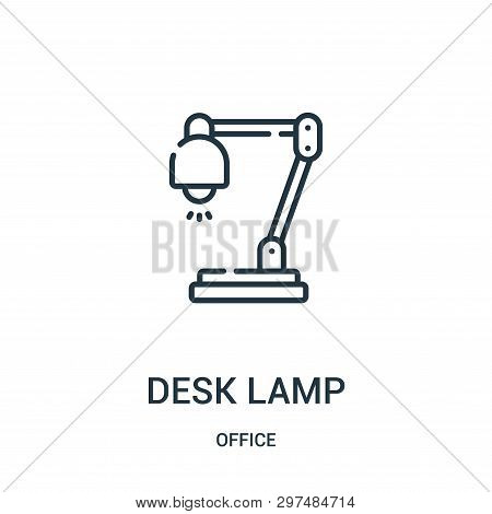 Desk Lamp Icon Isolated On White Background From Office Collection. Desk Lamp Icon Trendy And Modern