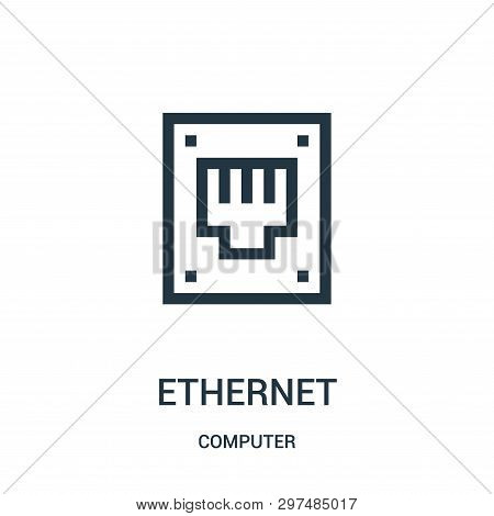 Ethernet Icon Isolated On White Background From Computer Collection. Ethernet Icon Trendy And Modern