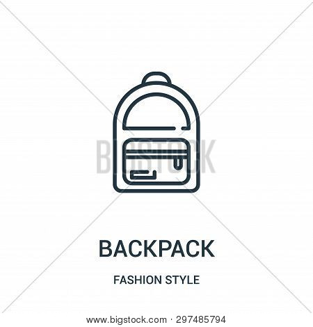 Backpack Icon Isolated On White Background From Fashion Style Collection. Backpack Icon Trendy And M