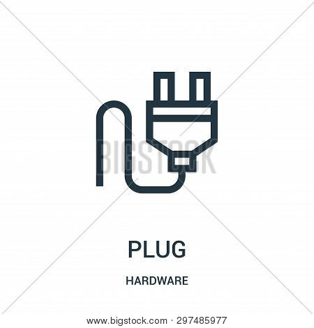 Plug Icon Isolated On White Background From Hardware Collection. Plug Icon Trendy And Modern Plug Sy