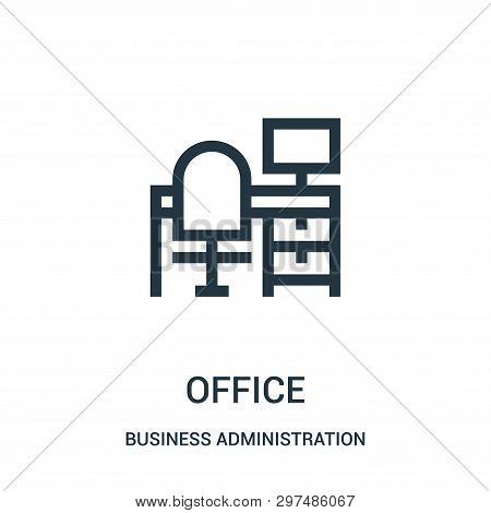 Office Icon Isolated On White Background From Business Administration Collection. Office Icon Trendy