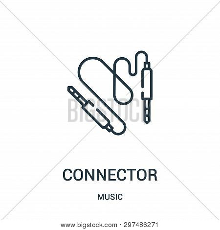 Connector Icon Isolated On White Background From Music Collection. Connector Icon Trendy And Modern